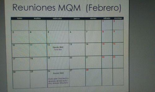 Calendario reuniones Febrero 2014